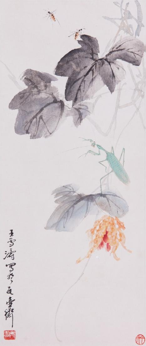 Chinese ink painting on paper, attributed to Wang