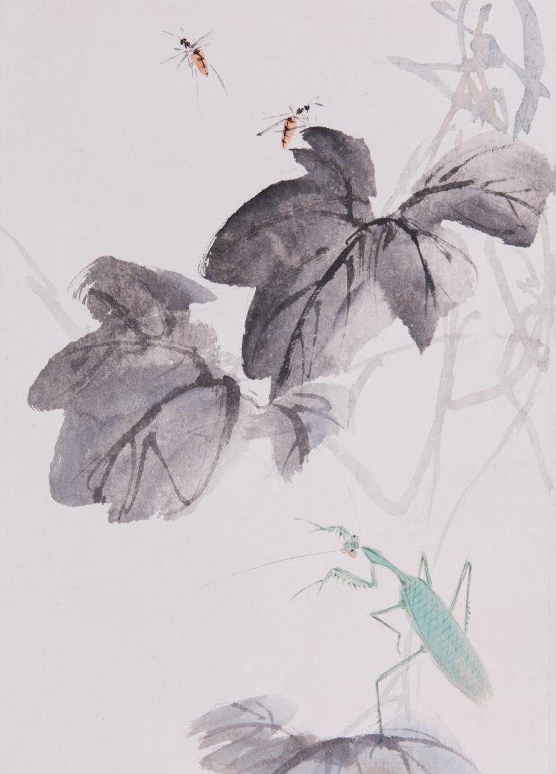 Chinese ink painting on paper, attributed to Wang - 2