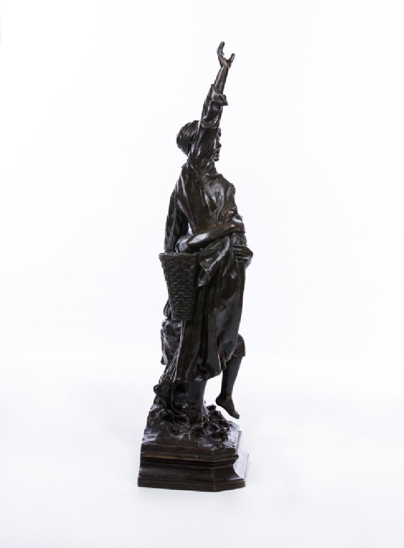 MARCEL DEBUT (FRENCH 1865-1933)  LA CRIE BRONZE - 2