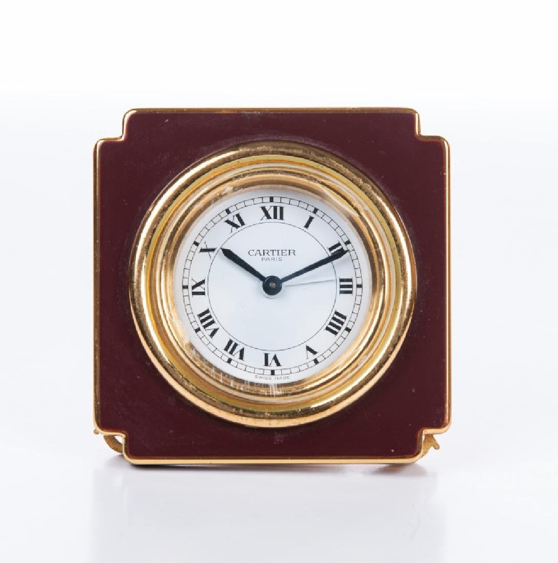 French enamel swiss made desk clock cartier cartier french enamel swiss made desk clock cartier amipublicfo Images
