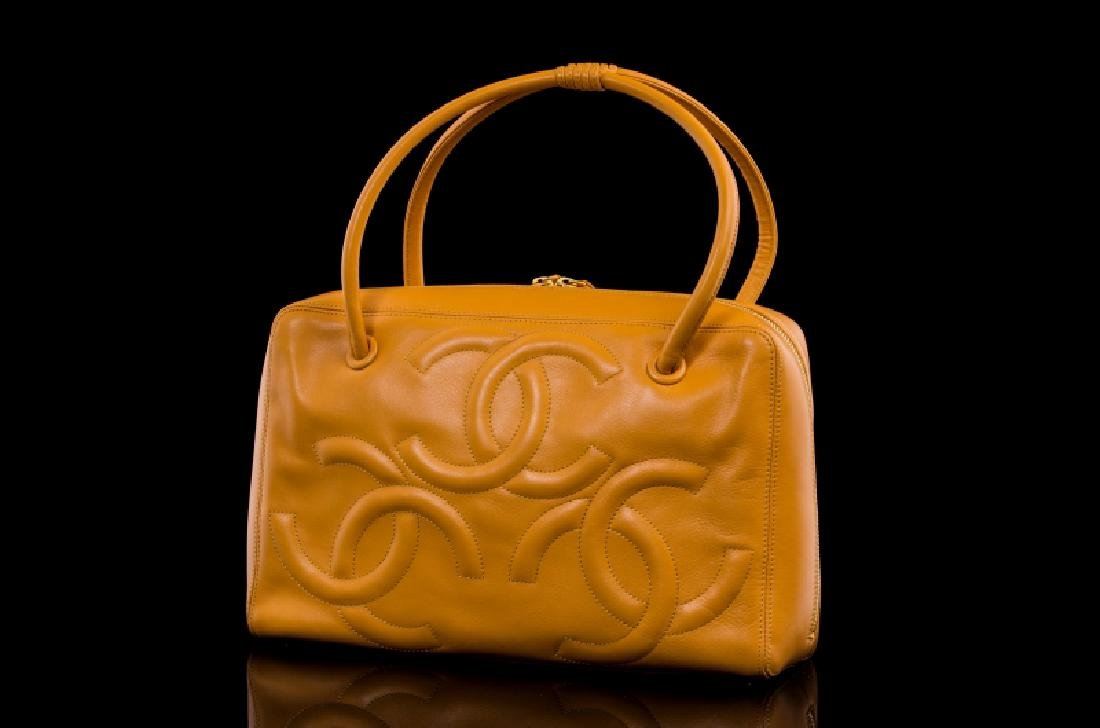 DARK YELLOW MUSTARD CHANEL HANDBAG