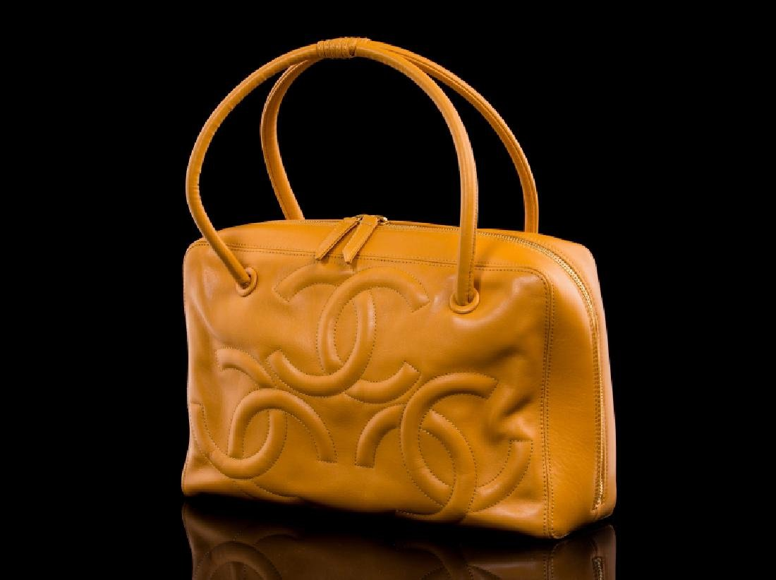 DARK YELLOW MUSTARD CHANEL HANDBAG - 2