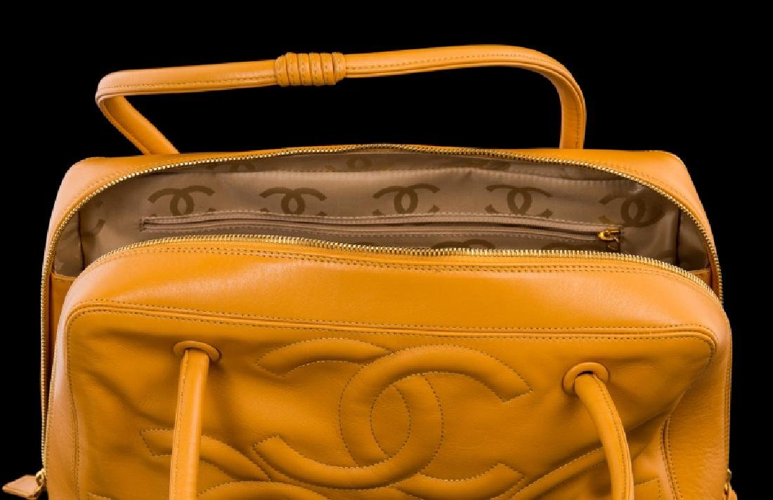 DARK YELLOW MUSTARD CHANEL HANDBAG - 4
