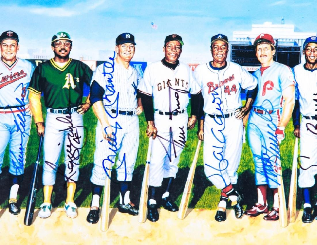 500 Home Run Club signed picture - 3
