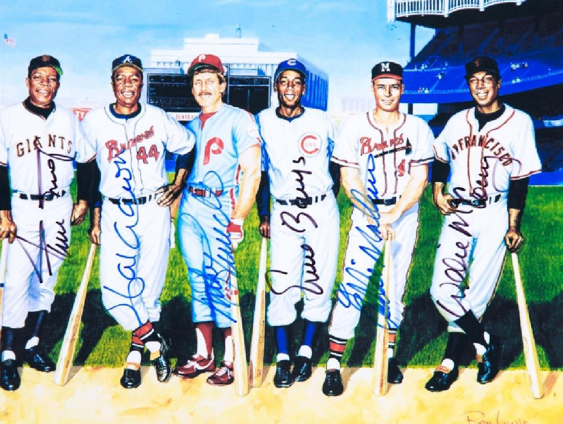 500 Home Run Club signed picture - 4