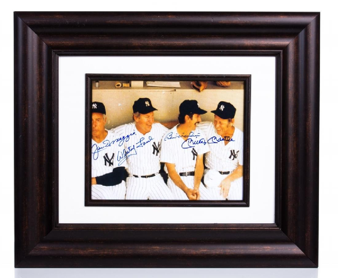 Ford/Berra/Dimaggio/Martin Signed Framed Picture