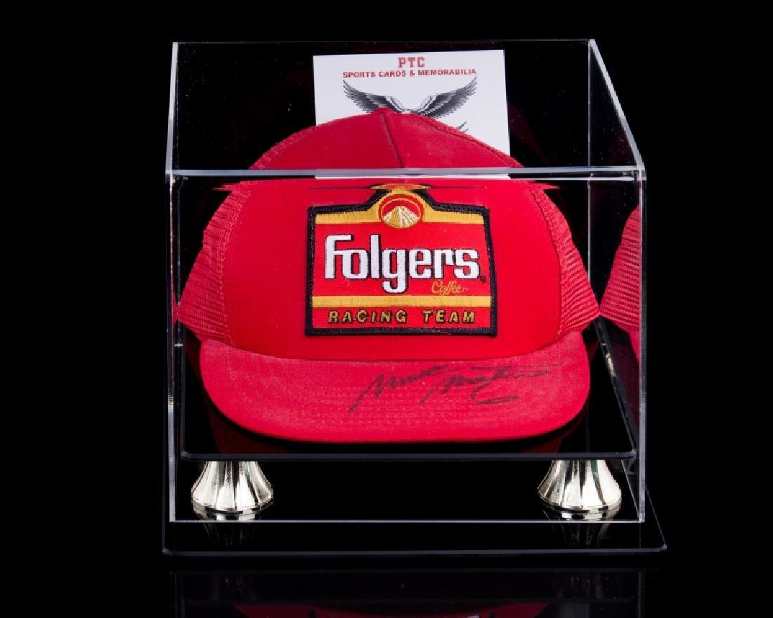 Martes M. Nascar signed hat w/ case