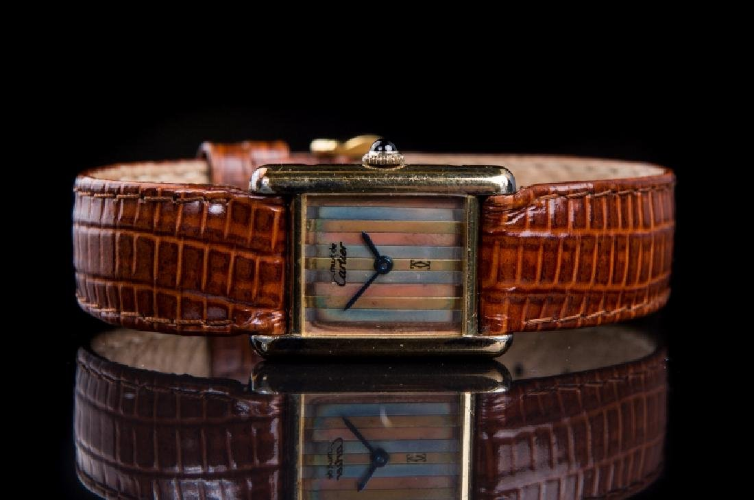 CARTIER LADIES STRIPED FACE WATCH