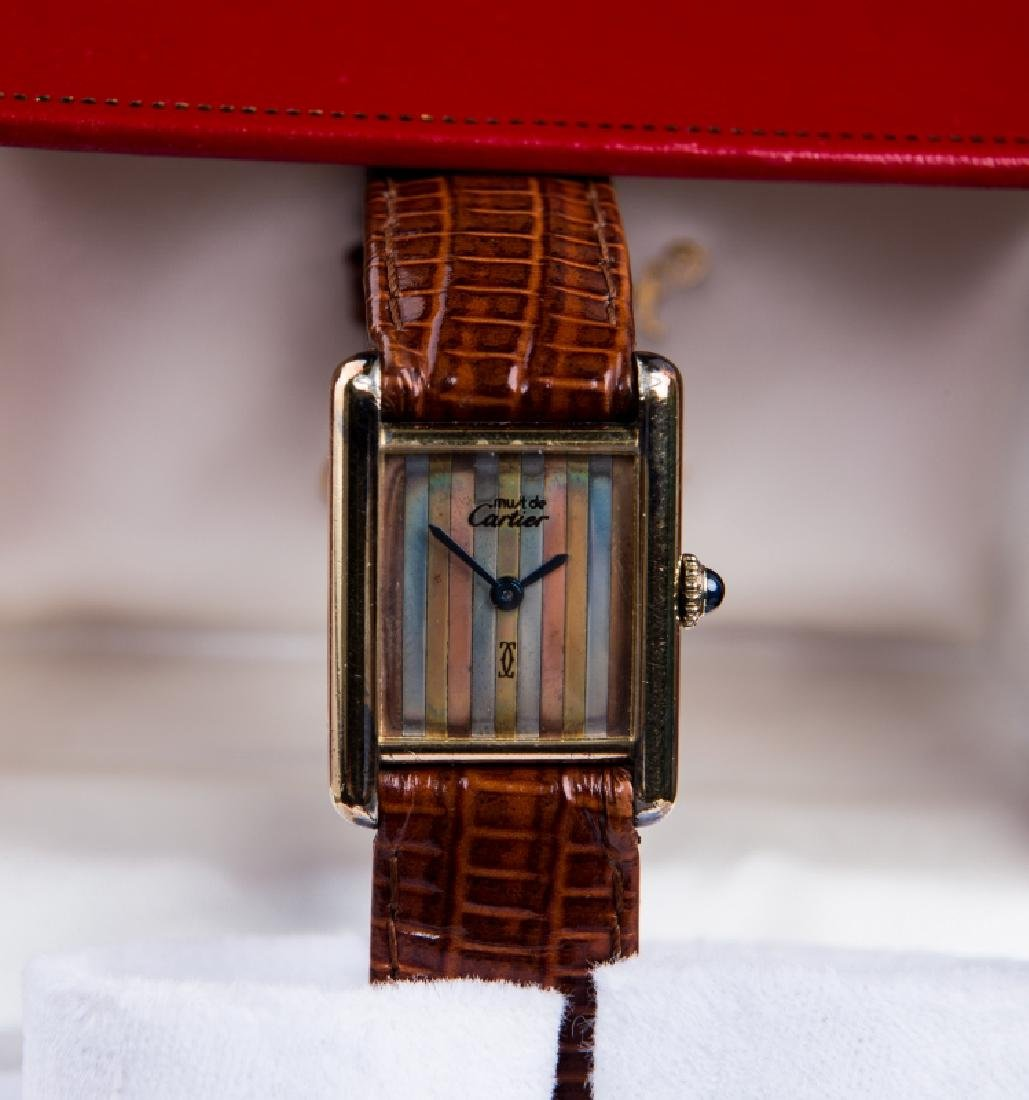 CARTIER LADIES STRIPED FACE WATCH - 2
