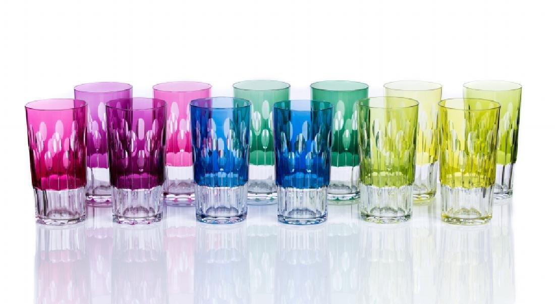 SET OF 12 UNSIGNED BACCARAT CRYSTAL GLASSES