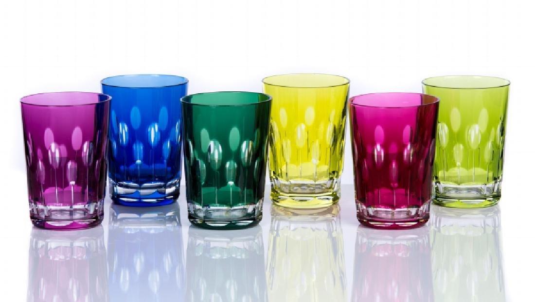 UNSIGNED BACCARAT CRYSTAL SET OF GLASSES
