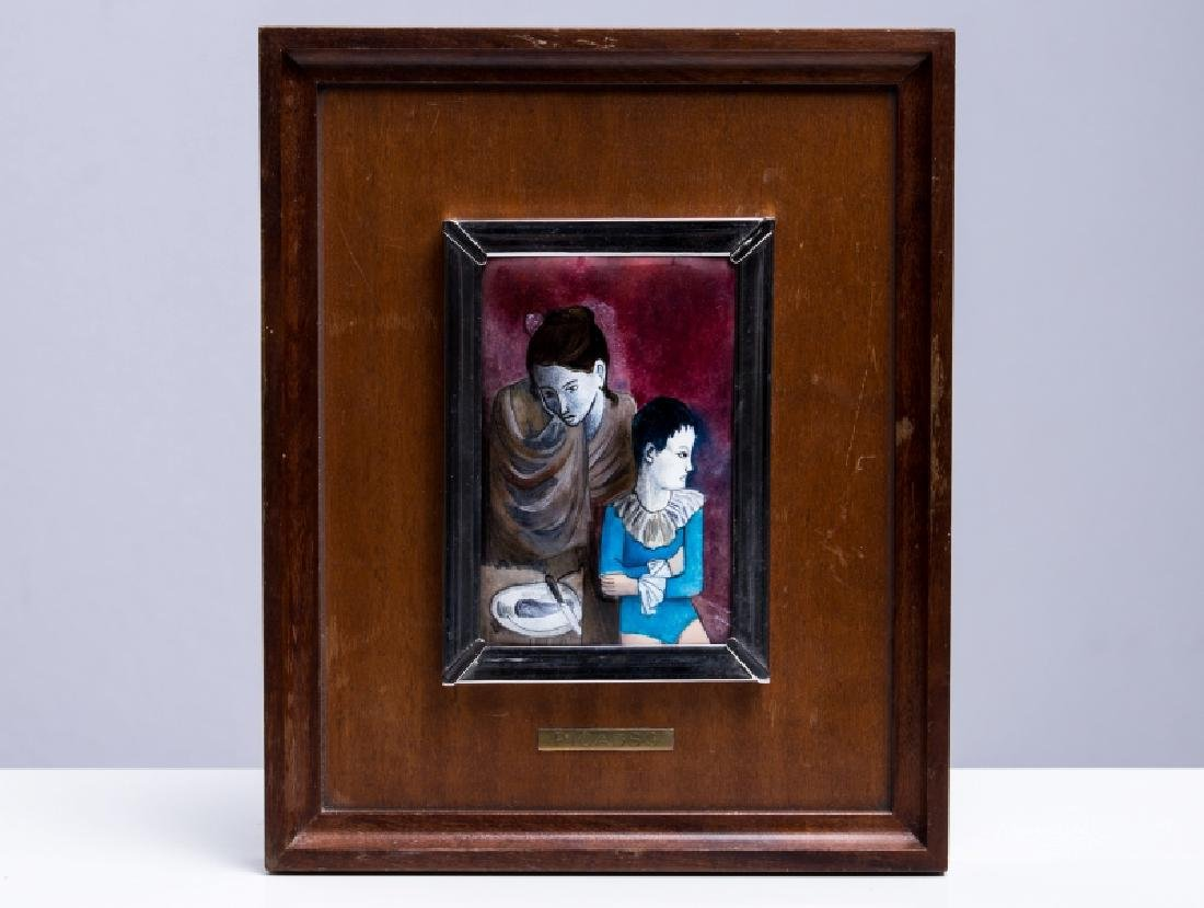 AFTER PICASSO ENAMEL PLAQUE ON COPPER