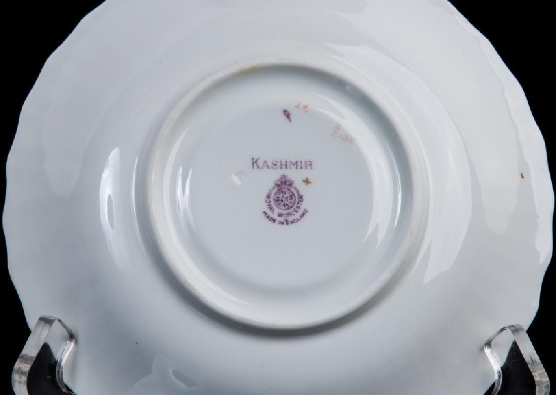 SET OF6 ROYAL WORCESTER KASMIR CREAM SOUP & SAUCER - 5
