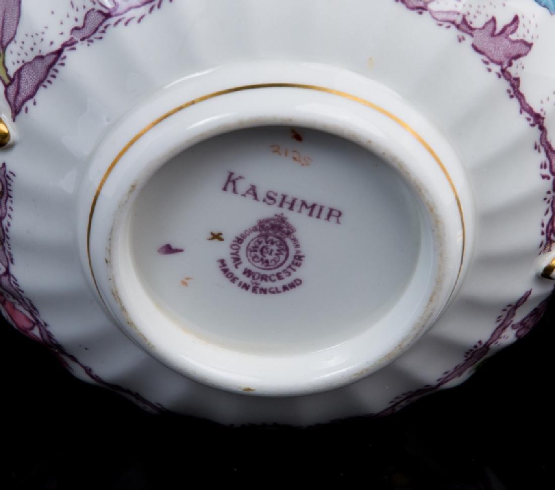 SET OF6 ROYAL WORCESTER KASMIR CREAM SOUP & SAUCER - 8