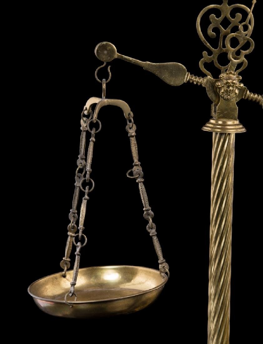 FRENCH BRONZE & MARBLE FIGURAL SCALE - 2