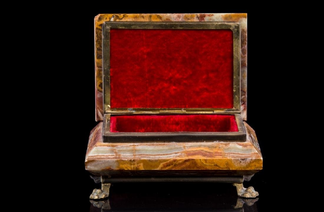 MARBLE & GILT METAL COVERED BOX - 2