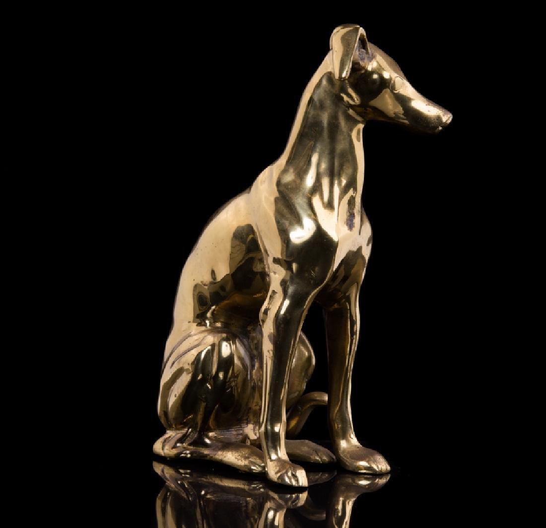 BRASS DOG FIGURE DOG STOPPER - 2