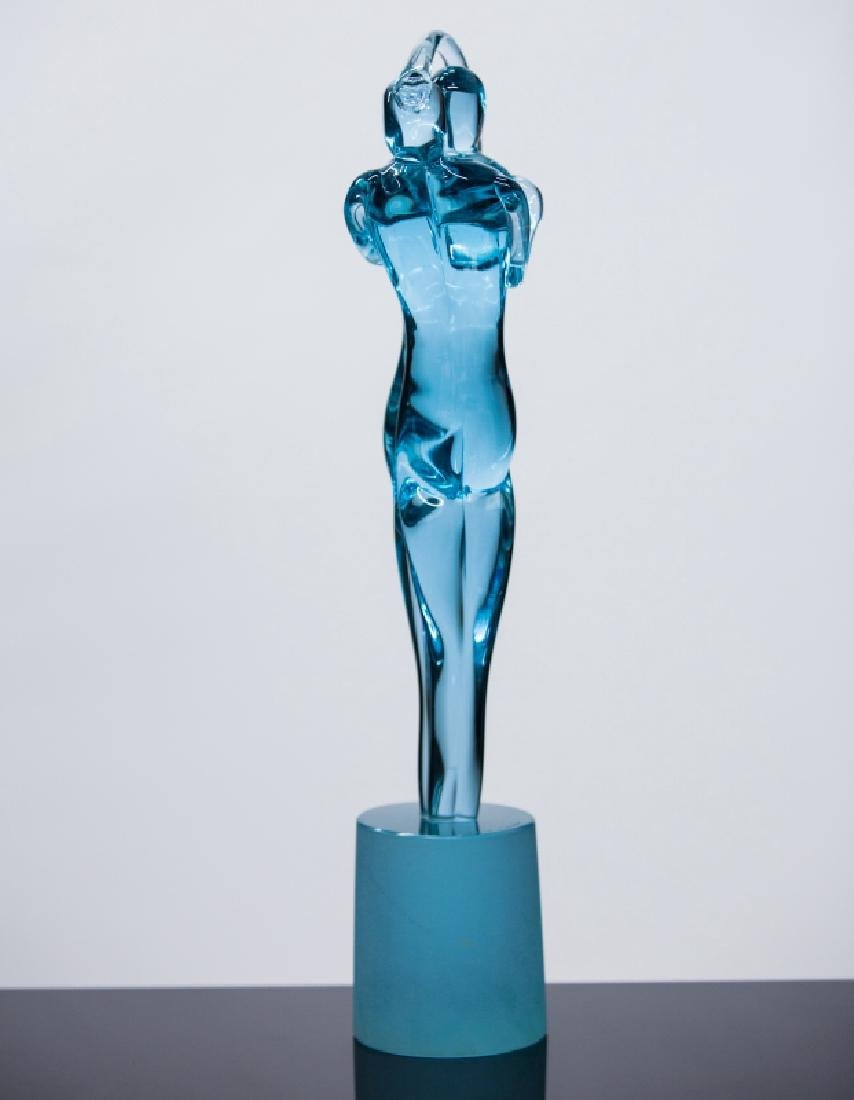 MURANO GLASS 2 FIGURE SCULPTURE - 3
