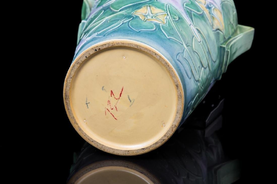 ART POTTERY FLORAL DESIGN VASE - 3