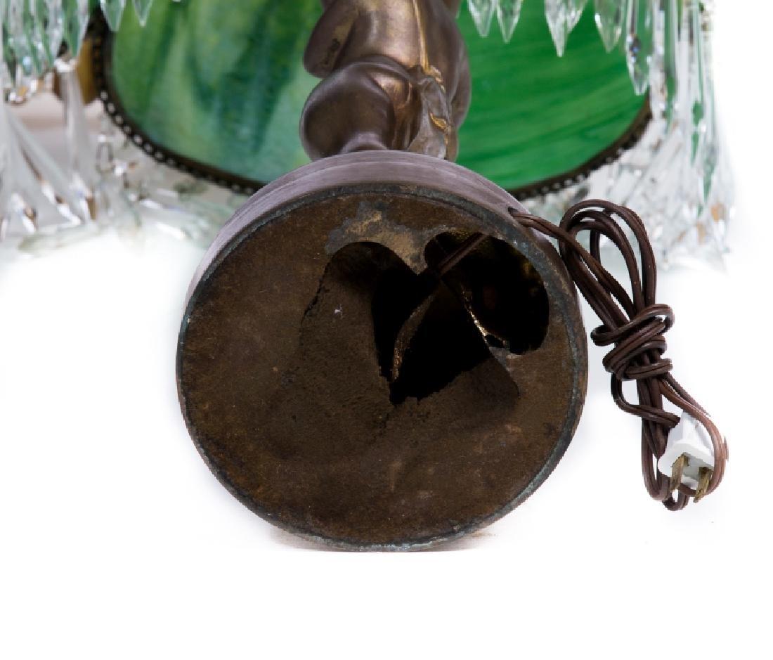 FRENCH METAL SLAG GLASS LAMP - 5