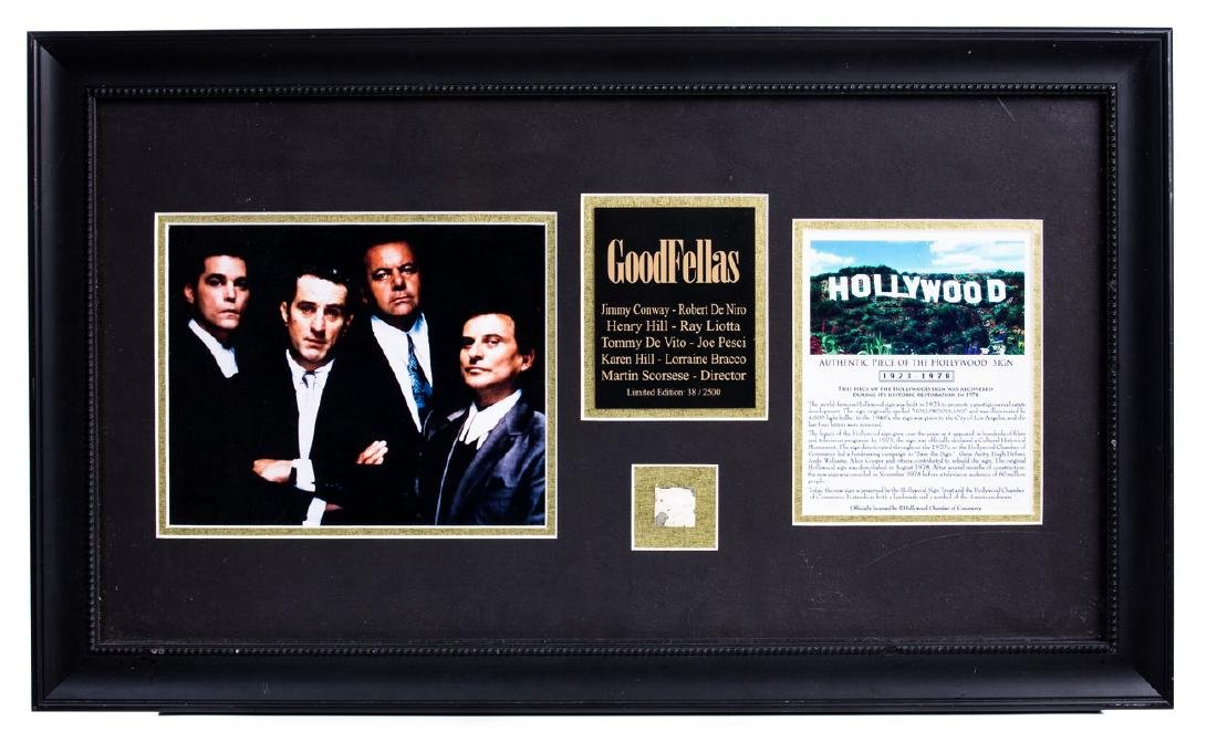 THE GOODFELLAS PIECE OF HOLLYWOOD MEMORABILLIA