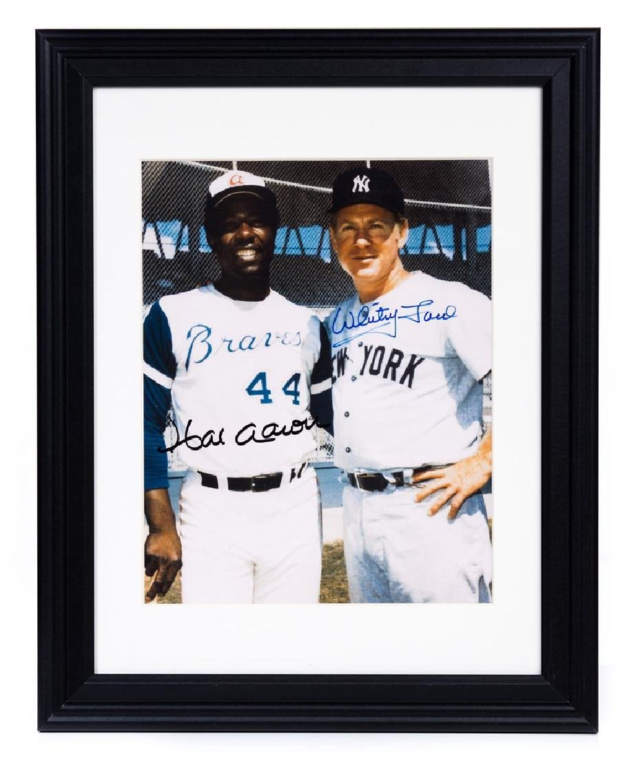 HANK AARON & WHITEY FORD AUTOGRAPHED PICTURE