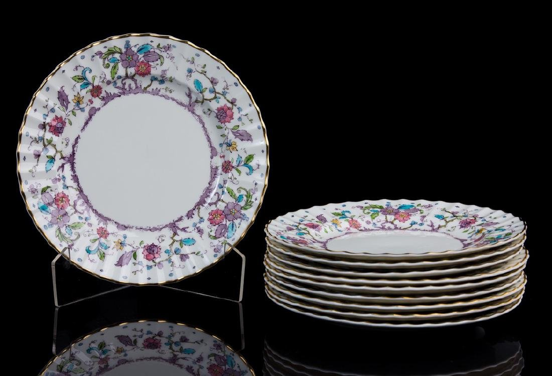 SET 10 ROYAL WORCESTER KASMIR SALAD PLATES