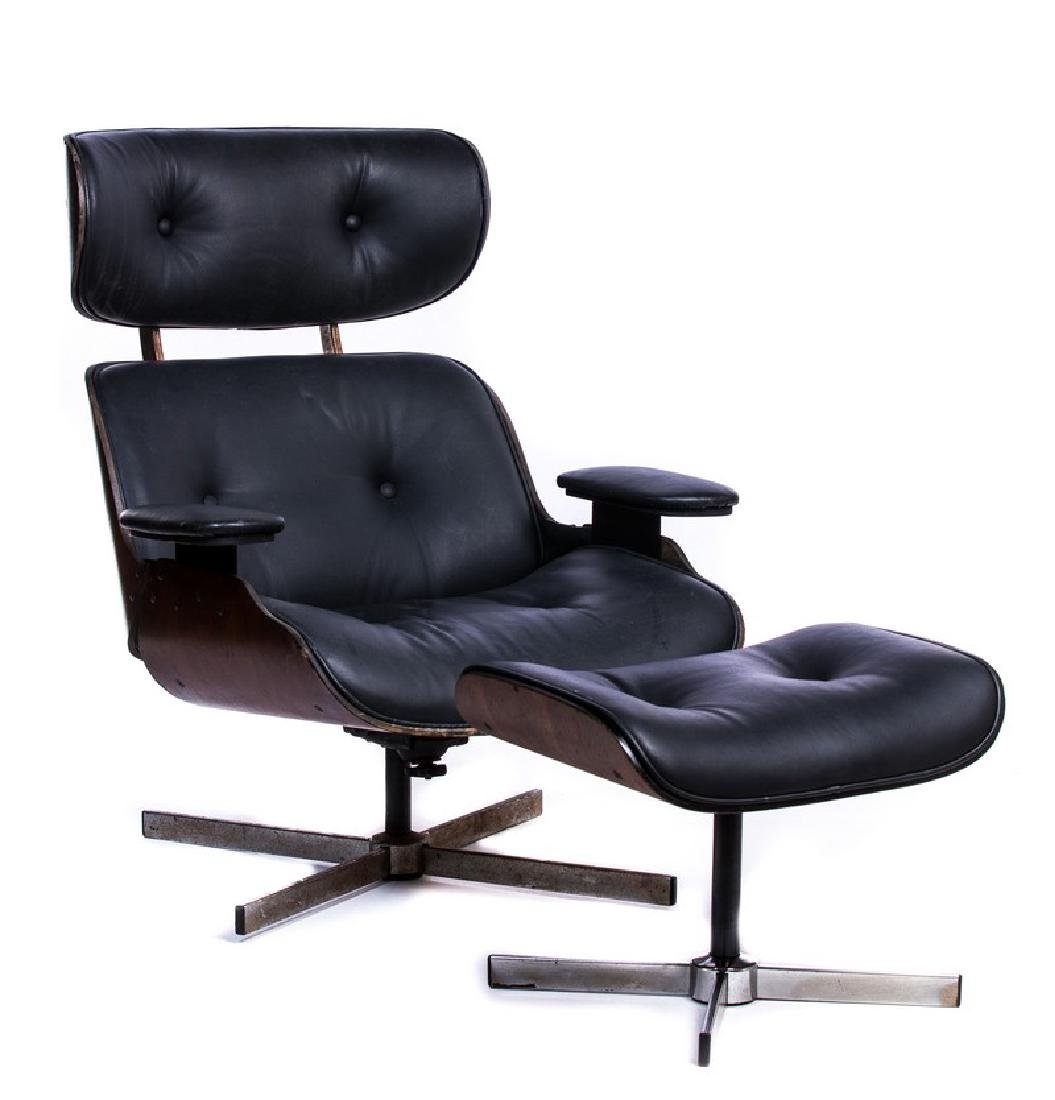 doener eames style lounge chair ottoman