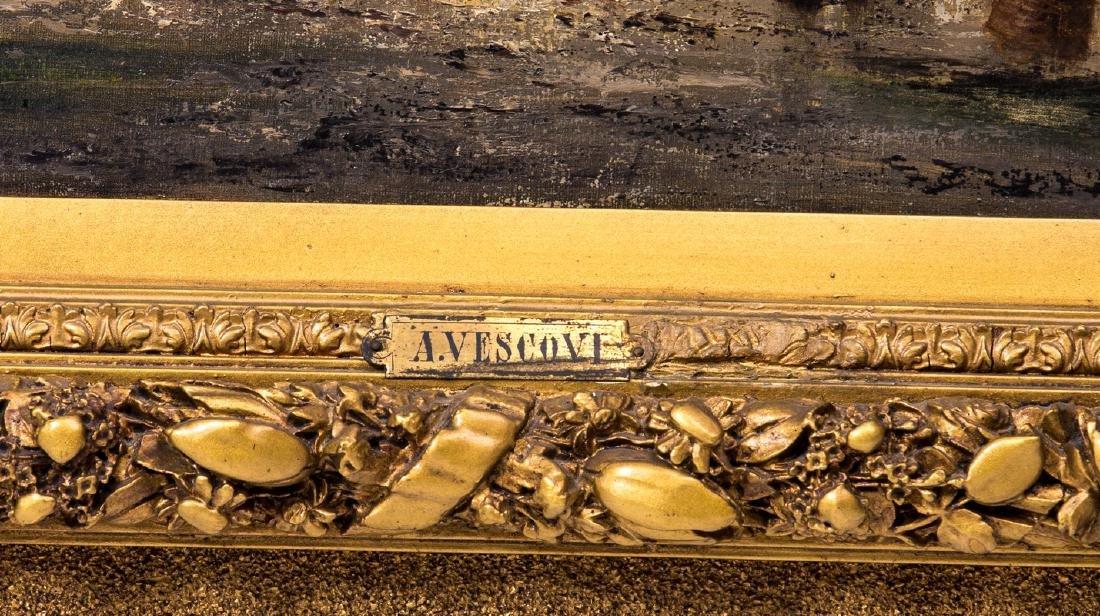 A/ VESCOVI (ITALIAN) 19TH C. PAINTING ON PANEL - 2