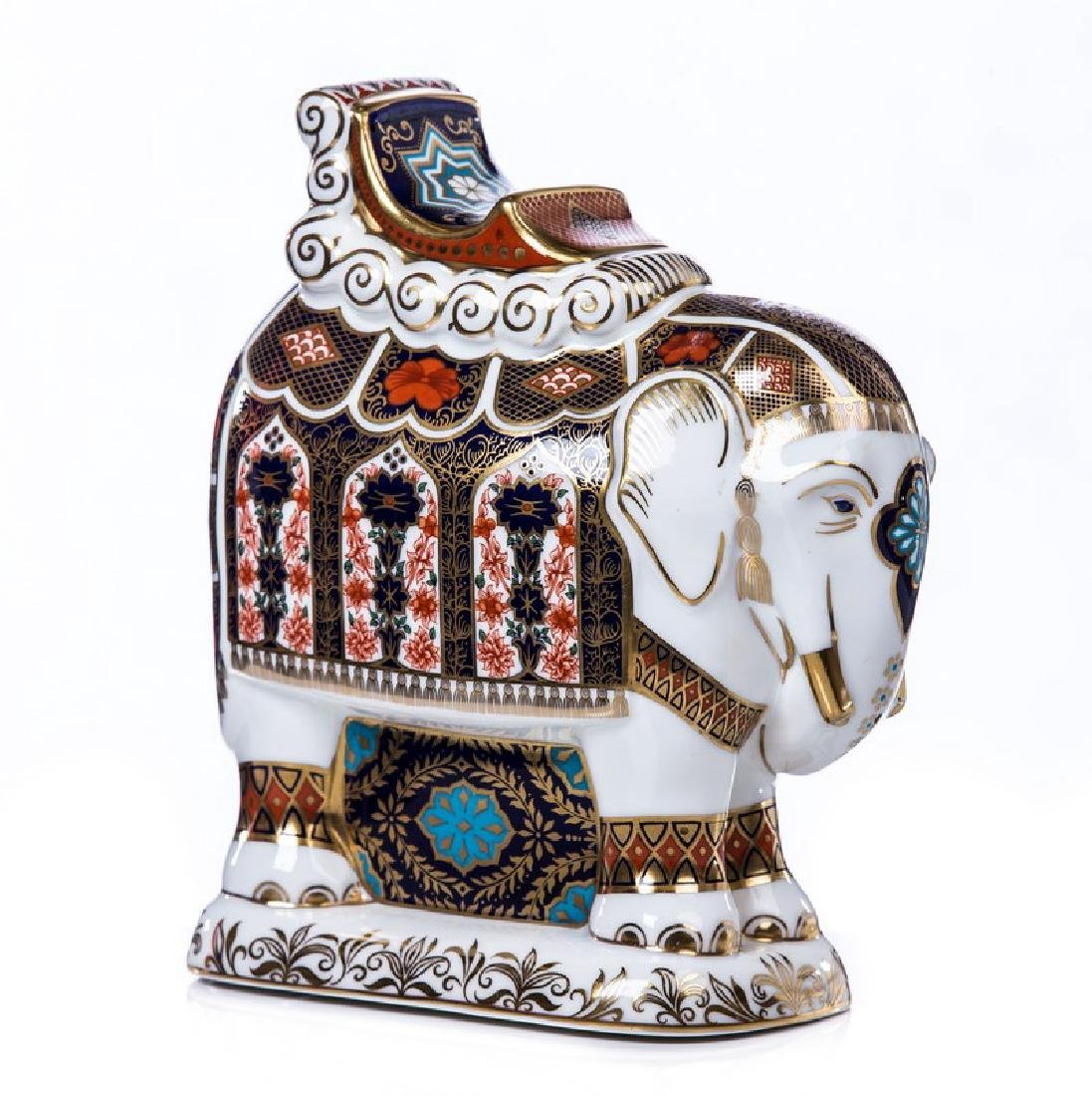 ROYAL CROWN DERBY PORCELAIN ELEPHANT