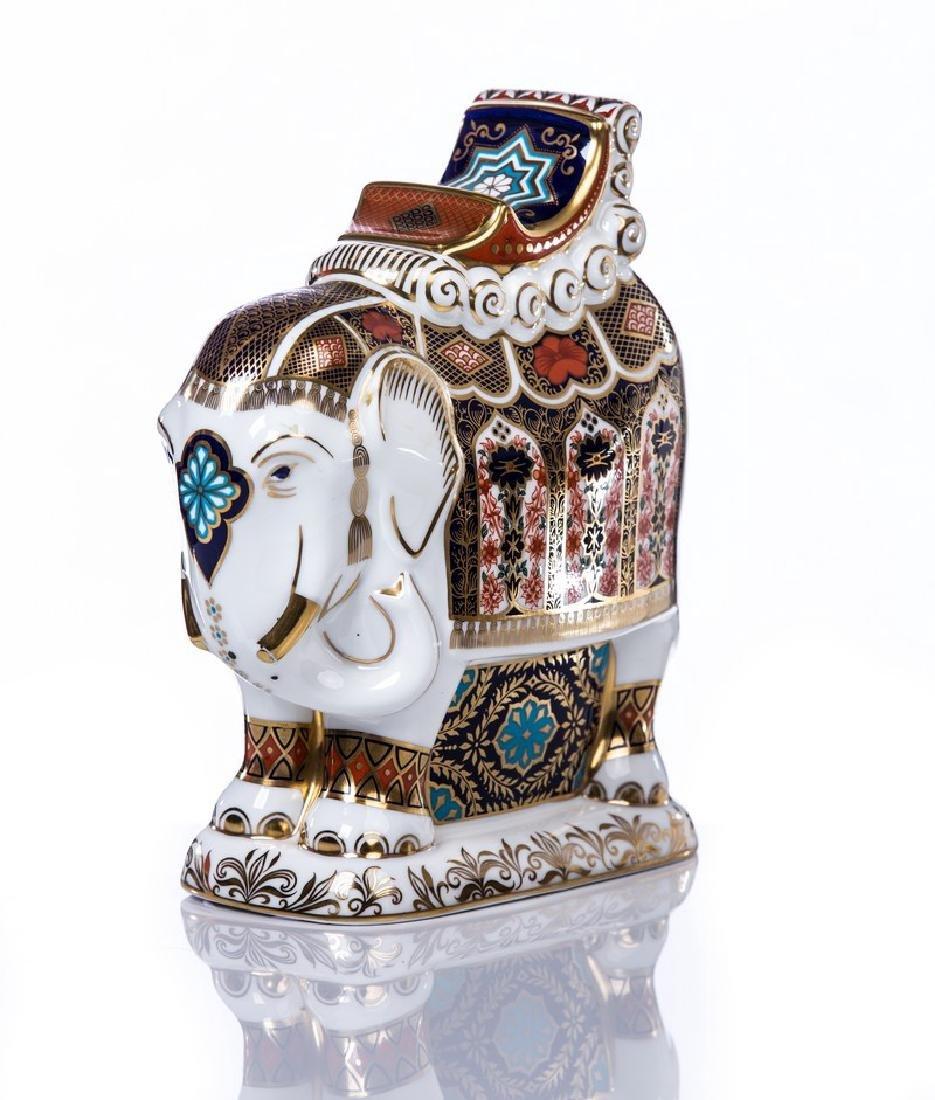 ROYAL CROWN DERBY PORCELAIN ELEPHANT - 2