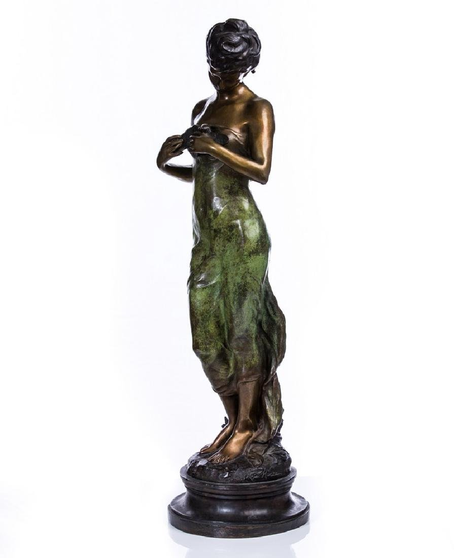 AFTER MOREAU BRONZE FIGURE OF WOMAN
