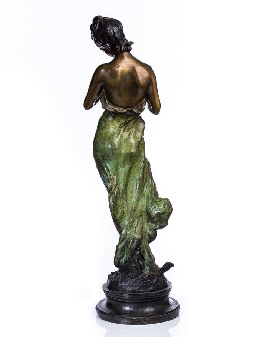 AFTER MOREAU BRONZE FIGURE OF WOMAN - 2