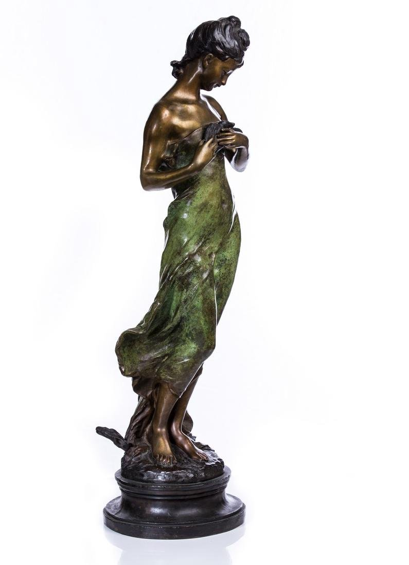 AFTER MOREAU BRONZE FIGURE OF WOMAN - 3