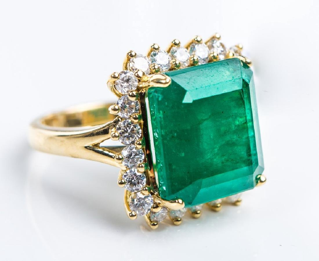 18KY EMERALD RING