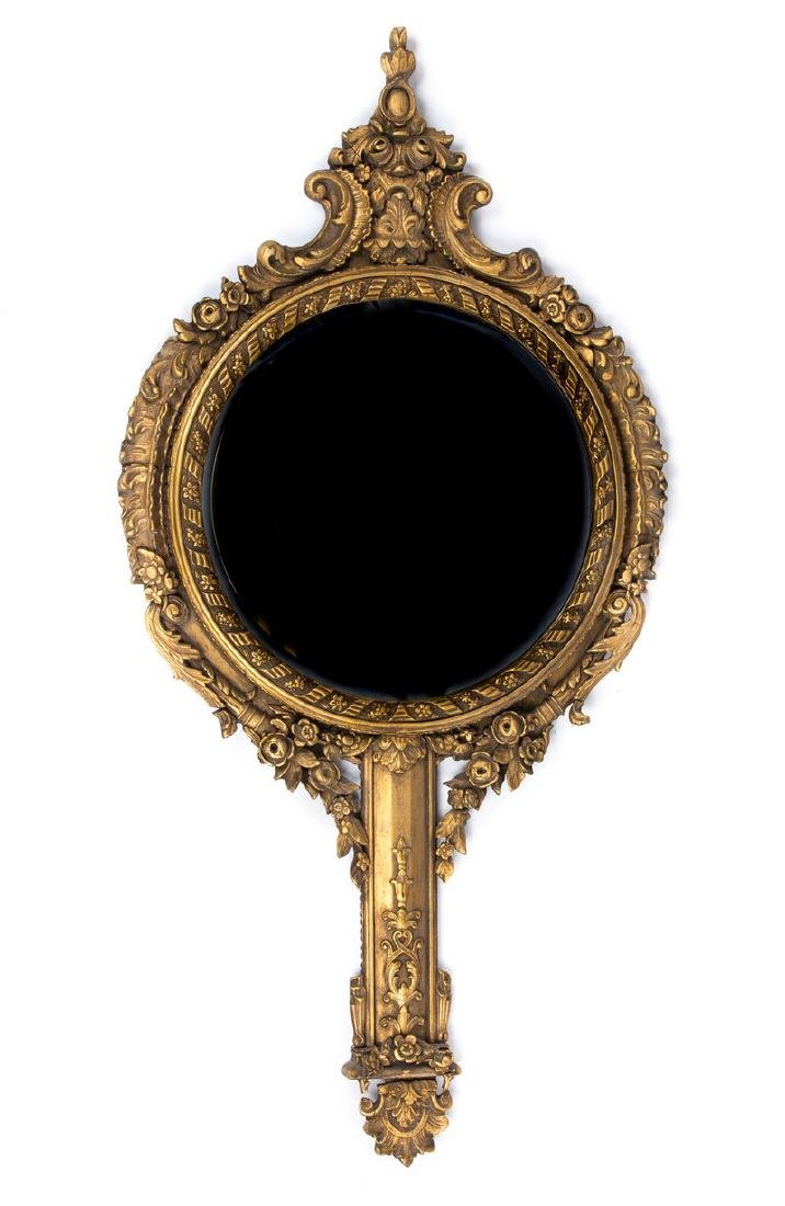 ANTIQUE ITALIAN GILDED WOODED MIRROR