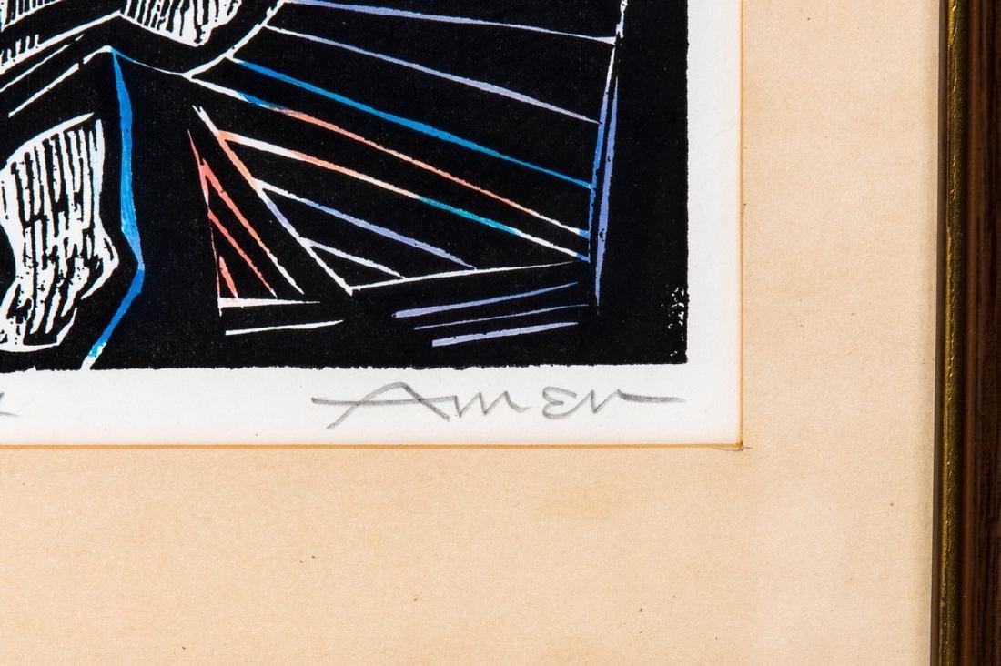 IRVING AMEN (AM 1918 - 2011) LITHOGRAPH AP - 2