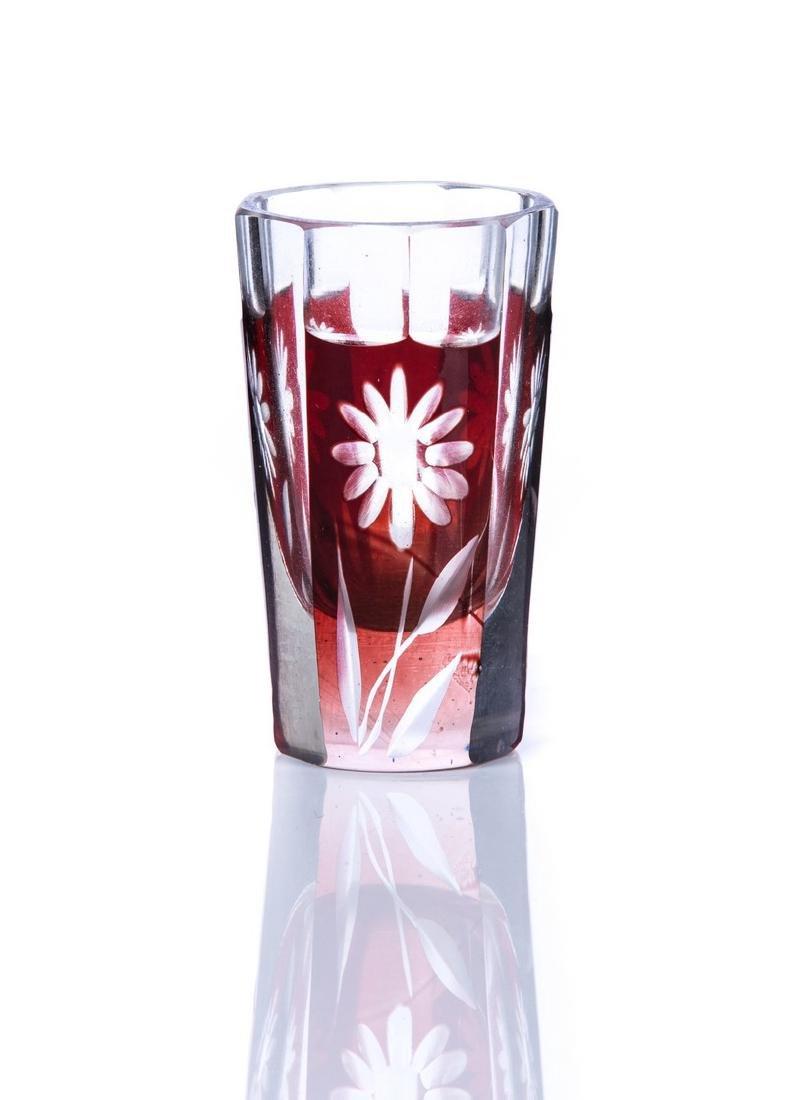 7 PIECE BOHEMIAN DECANTER AND SHOT GLASS SET - 4