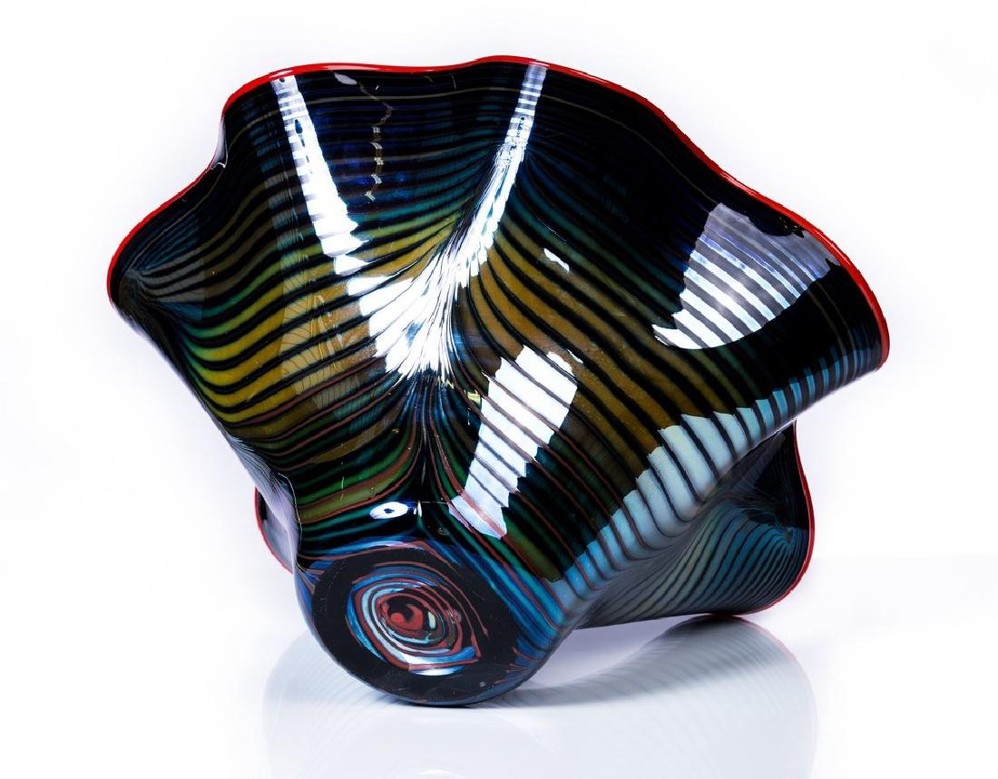 CHIHULY STYLE ART GLASS BOWL - 3