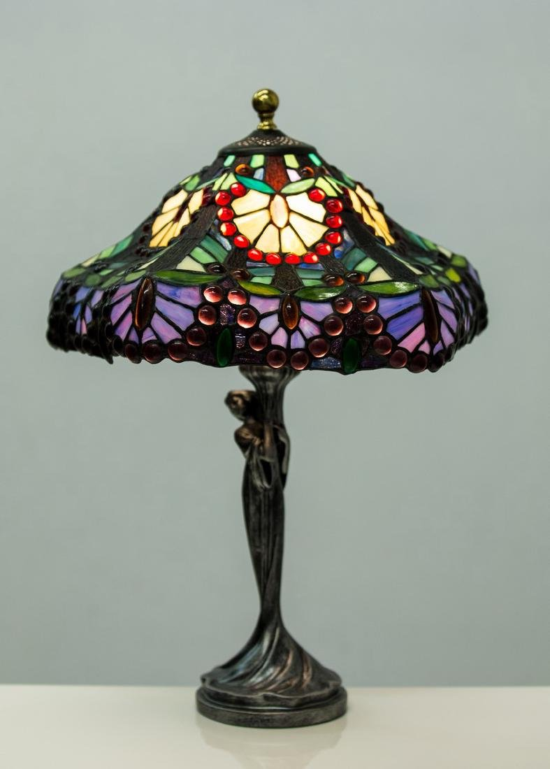 TIFFANY STYLE FIGURAL TABLE LAMP