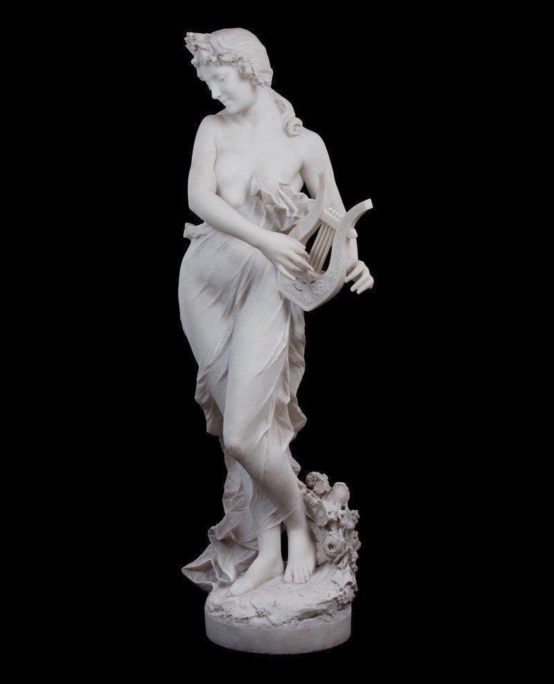 SCHEGGI (ITALIAN) LATE 19TH CENTURY MARBLE FIGURE