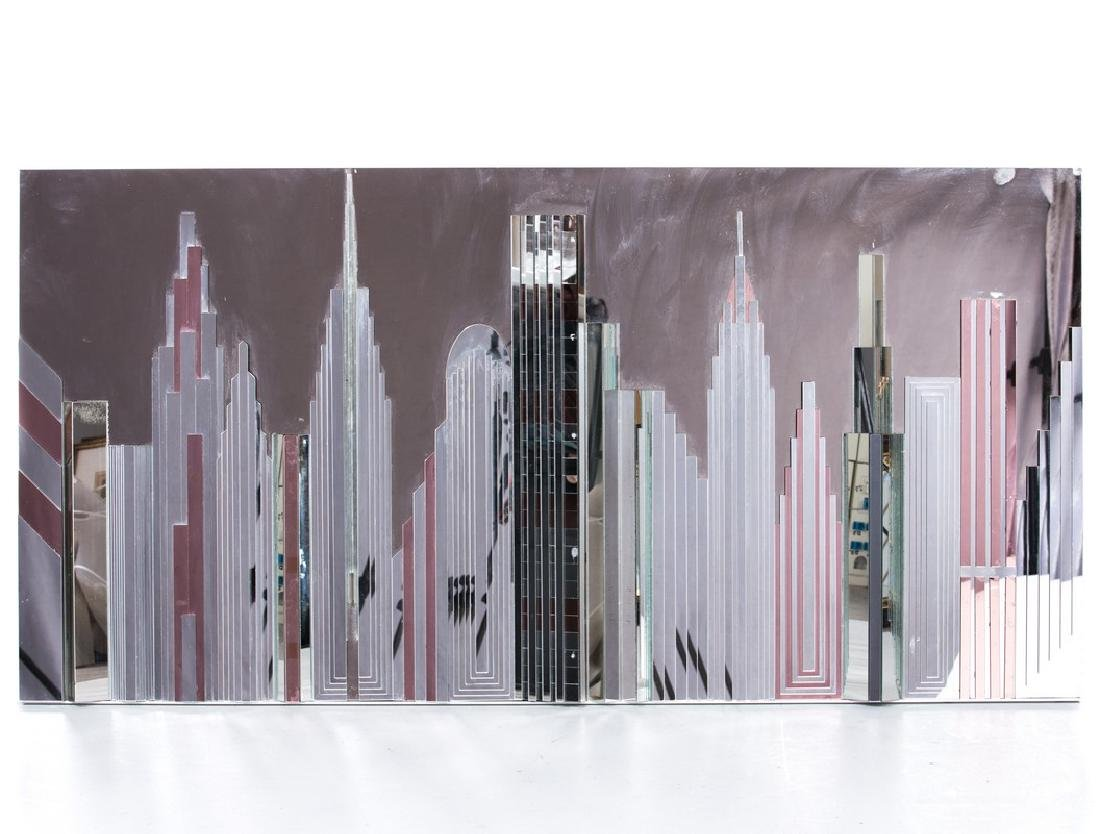 3D ART DECO NYC SKYLINE GLASS SCULPTURE