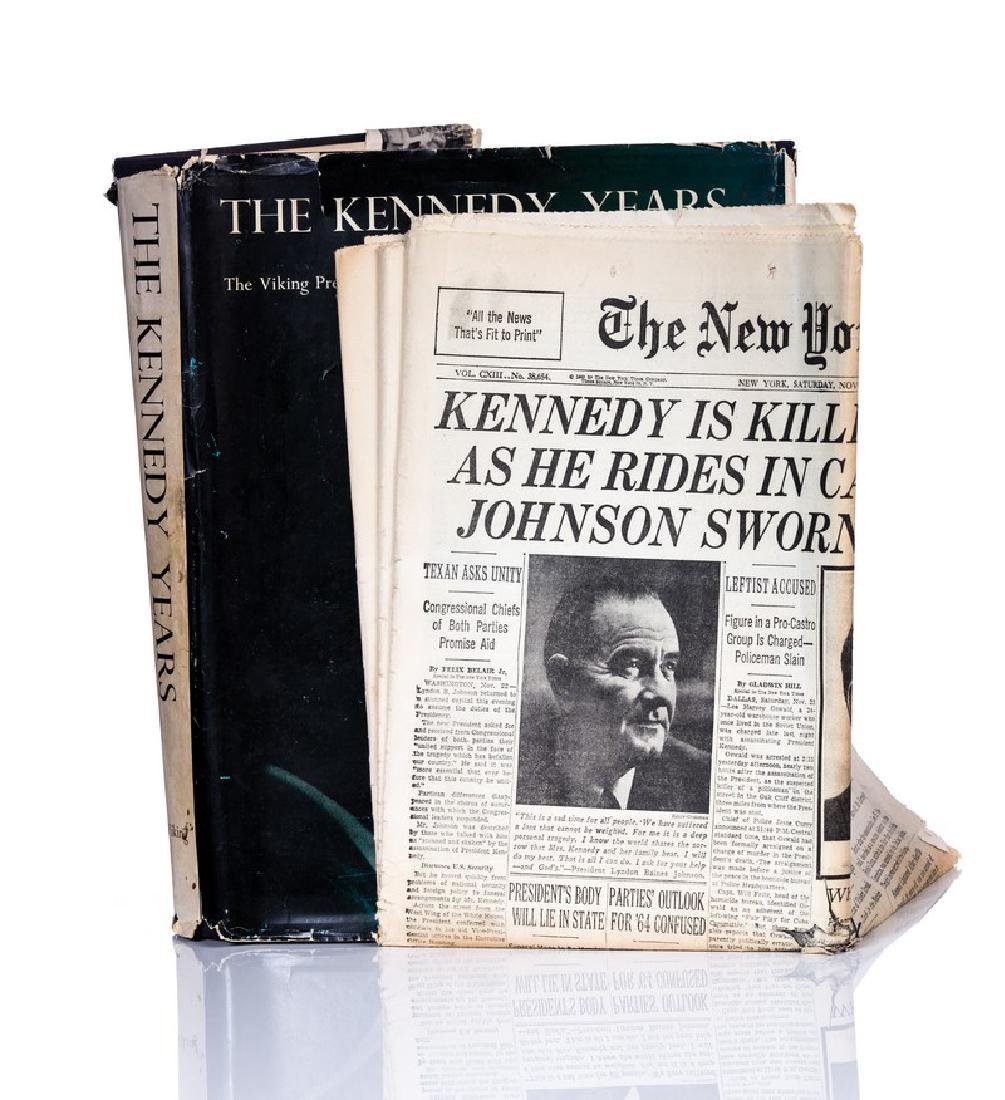 """""""THE KENNEDY YEARS"""" BOOK WITH NY TIMES PAPER - 2"""