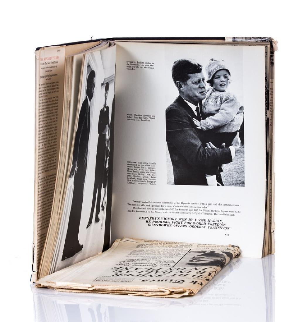 """""""THE KENNEDY YEARS"""" BOOK WITH NY TIMES PAPER - 3"""