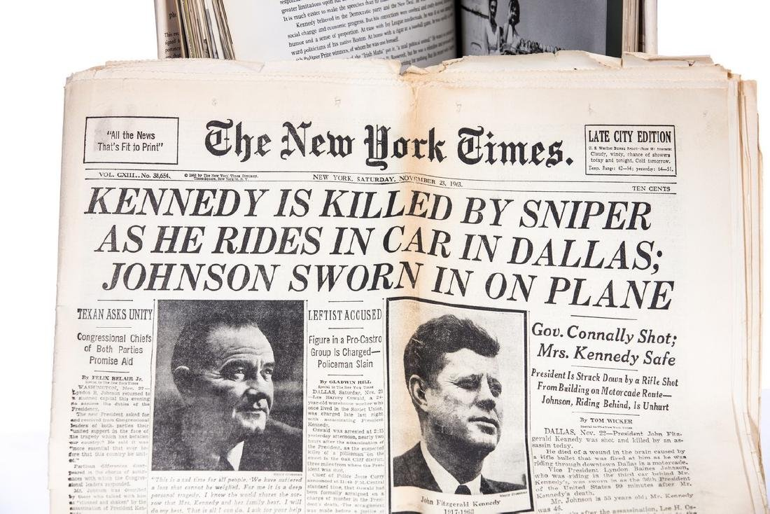 """""""THE KENNEDY YEARS"""" BOOK WITH NY TIMES PAPER - 6"""