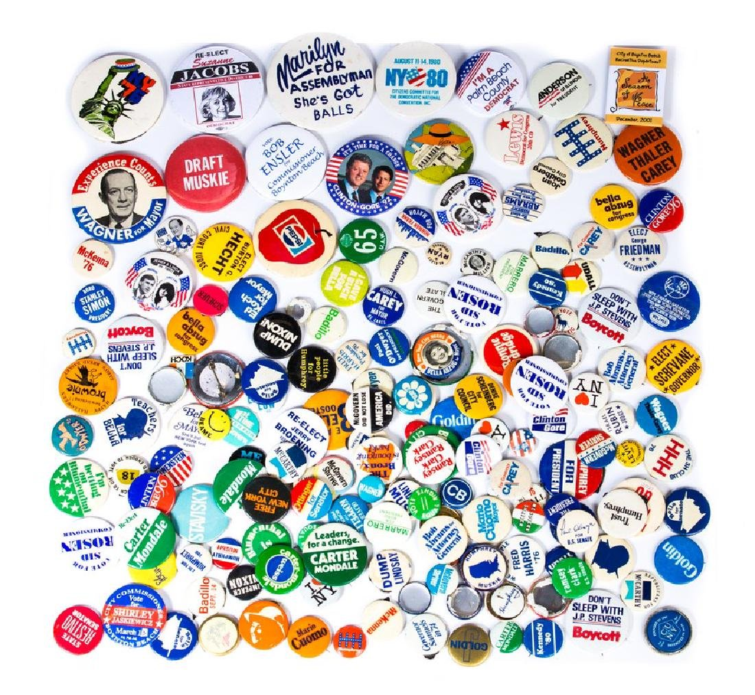 COLLECTION OF OLD VOTING BUTTONS