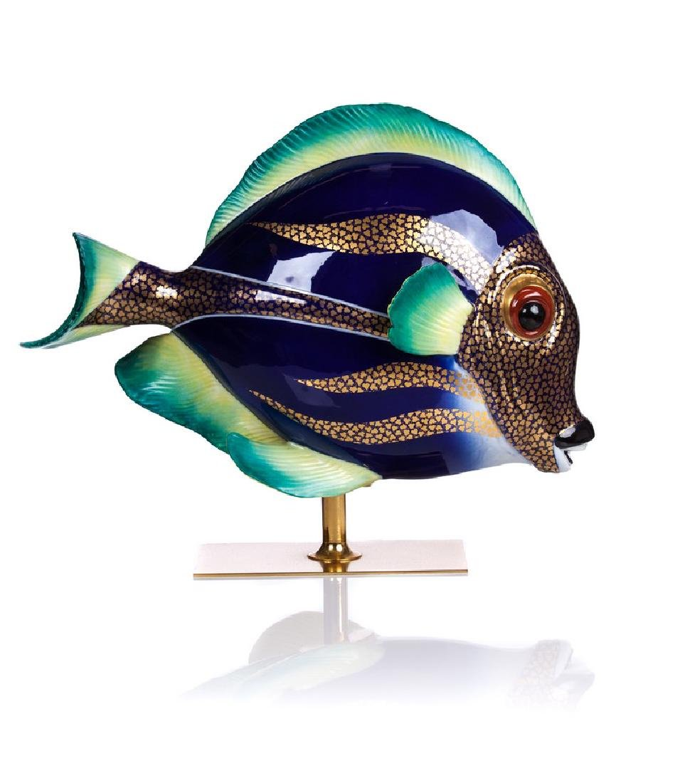 OGGETTI ART GLASS NIEL CENTURY FISH SCULPTURE