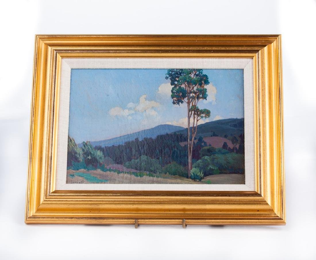 GUSTAVE CIMIOTTI OIL PAINTING  SIGNED LANDSCAPE