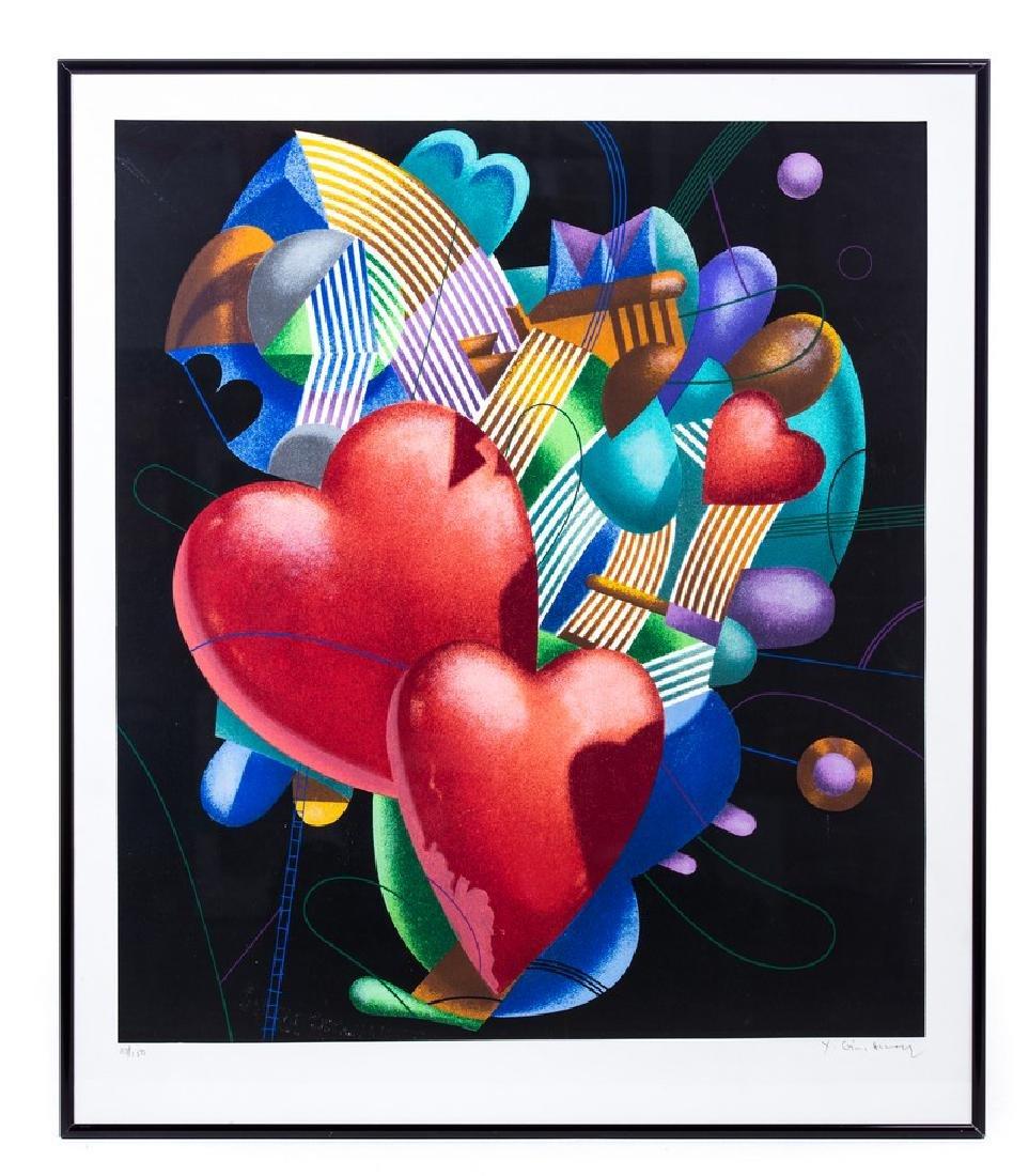 """YANKEL GINZBURG """"HEART"""" LITHOGRAPH 23/150"""
