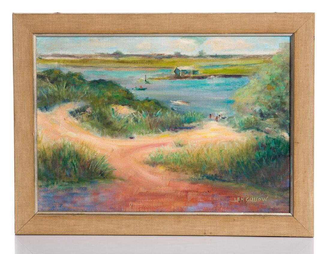 LEN GUSSOW OIL PAINTING ON CANVAS